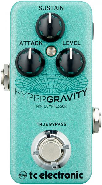 Pédale compression / sustain / noise gate  Tc electronic HyperGravity Mini Compressor