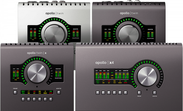 carte son studio universal audio apollo, apollo twin, twin x, x4