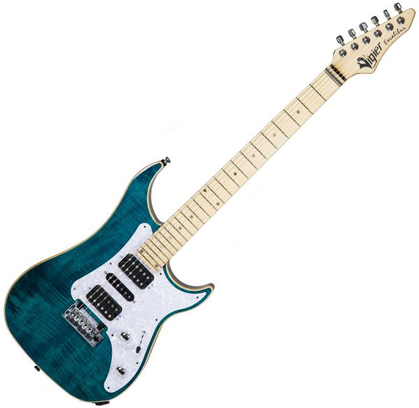 Guitare électrique solid body Vigier                         Excalibur Special (MN) - deep blue