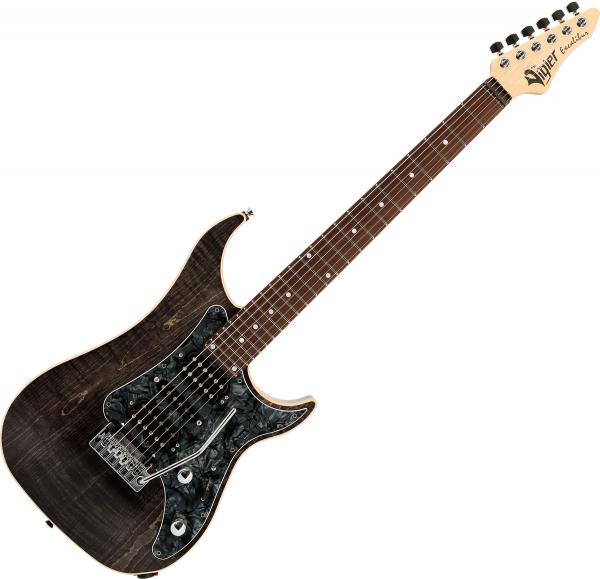 Guitare électrique solid body Vigier                         Excalibur Special (HSH, TREM, RW) - black diamond