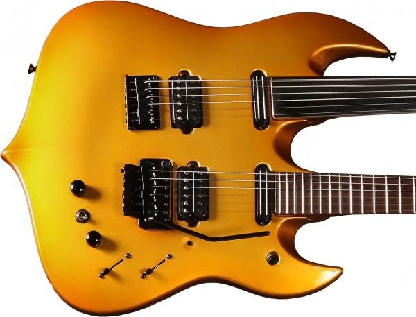 Guitare élec. double manches Vigier                         Ron Thal Double B Foot - gold