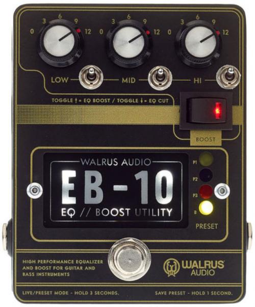 Pédale volume / boost. / expression Walrus EB-10 Preamp EQ Boost - Black