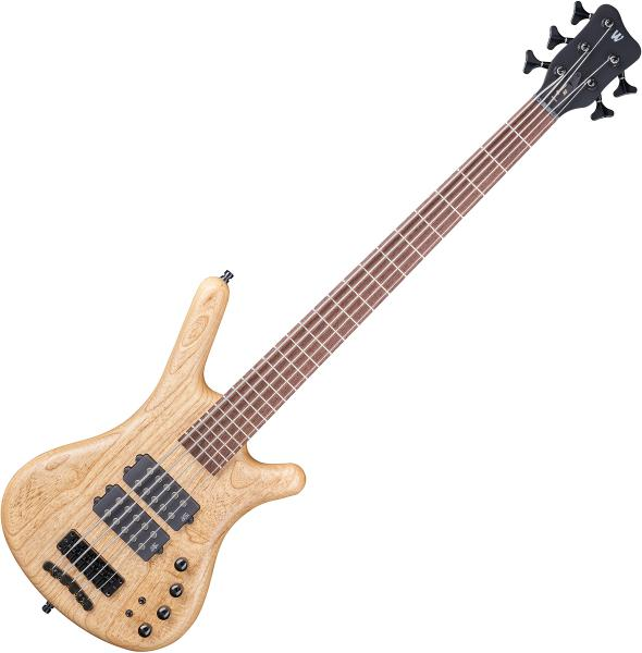 Basse électrique solid body Warwick PRO GPS Corvette $$ 5 String - Natural transparent satin
