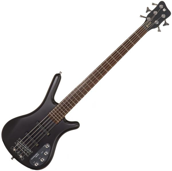 Basse électrique solid body Warwick Rockbass Corvette Basic 5-String - Nirvana black satin