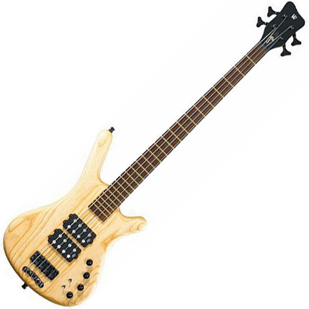 Basse électrique solid body Warwick Corvette $$ double buck - Natural
