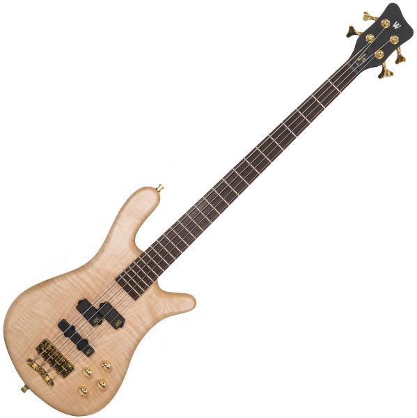Basse électrique solid body Warwick PRO GPS Streamer LX 4 Maple Ltd +Bag - Natural trans satin
