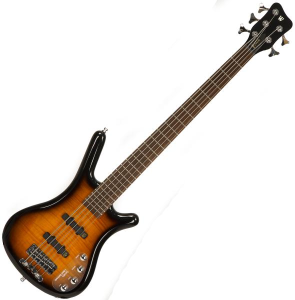 Basse électrique solid body Warwick Rockbass Corvette Classic 5-String - Almond sunburst