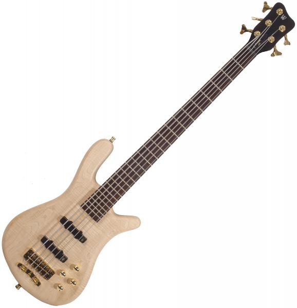 Basse électrique solid body Warwick GPS Streamer LX 5 +Bag - Natural satin