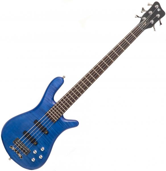Basse électrique solid body Warwick PRO GPS Streamer LX 5-String Maple Ltd - Ocean blue