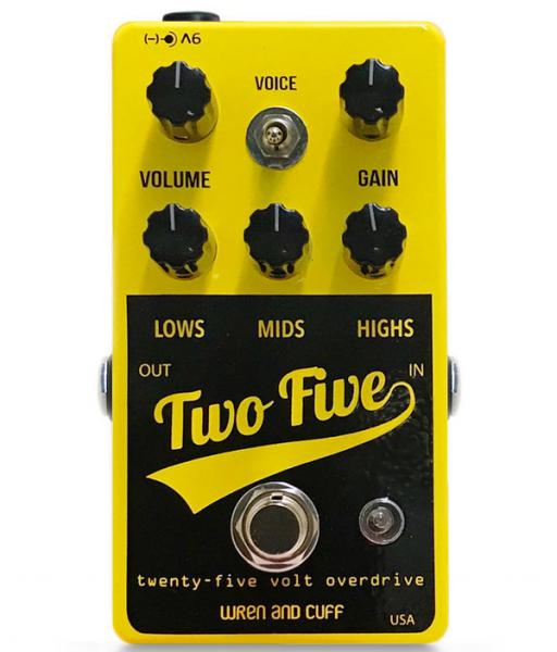 Pédale overdrive / distortion / fuzz Wren and cuff Two Five Drive Boost