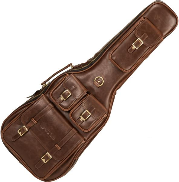 Housse guitare électrique X-tone 2035 Deluxe Leather Electric Guitar Bag - Brown
