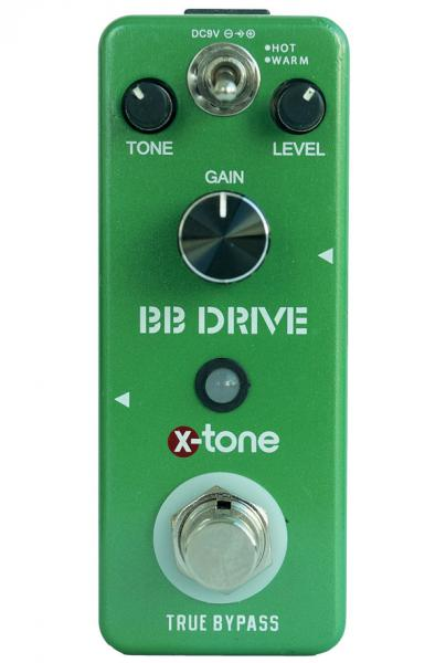 Pédale overdrive / distortion / fuzz X-tone BB Drive