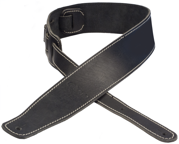Sangle courroie X-tone xg 3153 Leather Guitar Strap - Black
