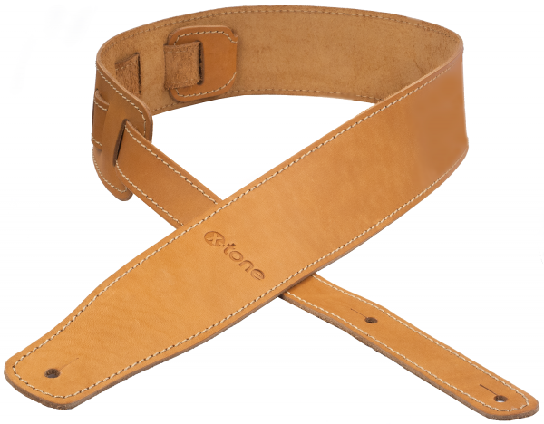 Sangle courroie X-tone xg 3150 CLASSIC LEATHER GUITAR STRAP CUIR 6.5CM BROWNSTONE Caramel