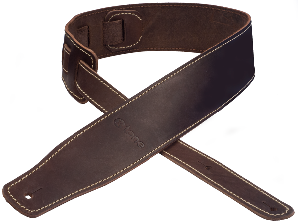 Sangle courroie X-tone xg 3152 Classic Leather Guitar Strap - Dark Brown