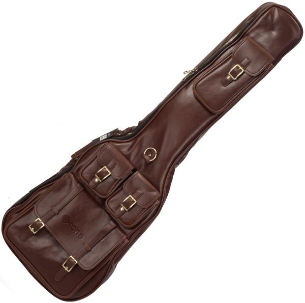 Housse basse électrique X-tone Deluxe Leather Electric Bass Bag - Medium Brown