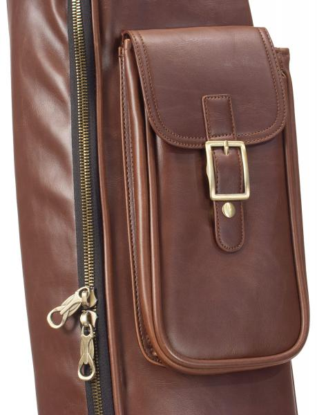 image Deluxe Leather Electric Bass Bag - Medium Brown
