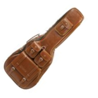 image Deluxe Leather Electric Guitar Bag - Tabac
