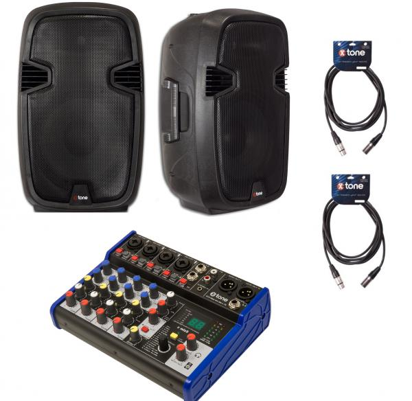 Pack sonorisation X-tone Bundle SMS-12A Mix8 Dsp