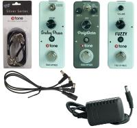 Pack effet guitare & basse X-tone Pack Pedales Psyche/Stoner + Patches & Alimentation