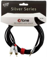 image X2004-1.5M - Jack(M) 3,5 Stereo / 2 RCA(M) SILVER SERIES