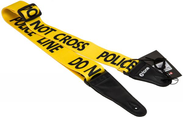 Sangle courroie X-tone XG 3103 Nylon Guitar Strap Police Line - Black & Yellow