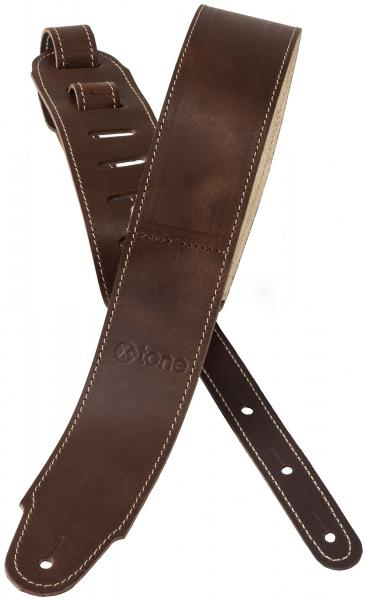 Sangle courroie X-tone xg 3155 Plus Leather Guitar Strap - Brown