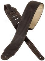 Sangle courroie X-tone xg 3156 Classic Plus Leather Guitar Strap - Dark Brown