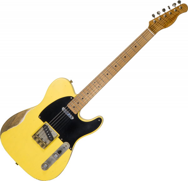 Guitare électrique solid body Xotic California Classic XTC-1 Alder #1940 - Heavy aging butterscotch