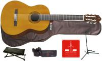 Pack guitare classique Yamaha C40II +Housse +Stand +Accordeur +Repose-pied - Natural