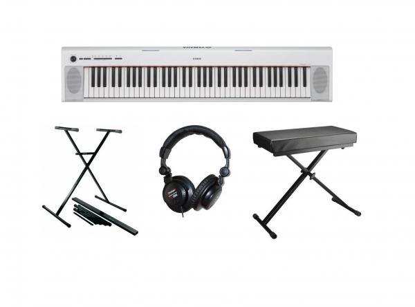 Pack clavier Yamaha NP-32WH + Stand + Banquette + Casque