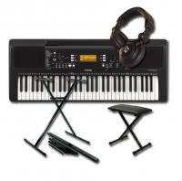 Pack clavier synthétiseur Yamaha PSR-E363 + stand + Banquette + Casque