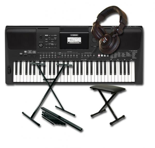 Pack clavier Yamaha PSR-E463 +stand +banquette +casque