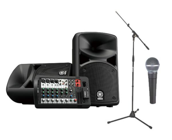 Pack sonorisation Yamaha Chant Stagepas 400 bt + Sm 58 Shure + Stand XH6001