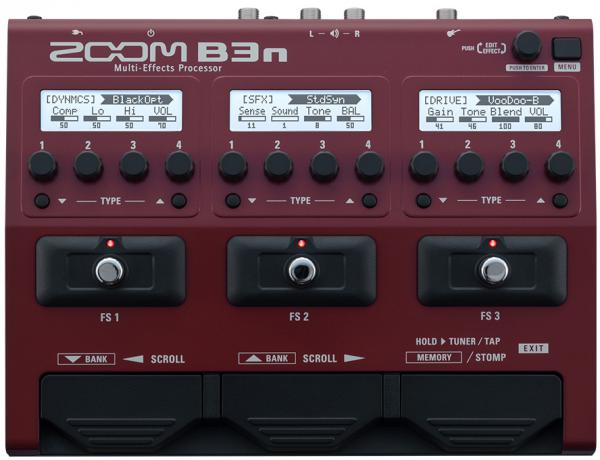 Multi effet basse en pedalier Zoom B3n Bass Multi-Effects