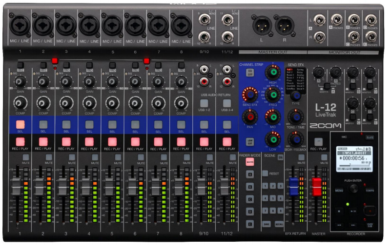 Table De Mixage Analogique Zoom Livetrak L 12 Star S Music